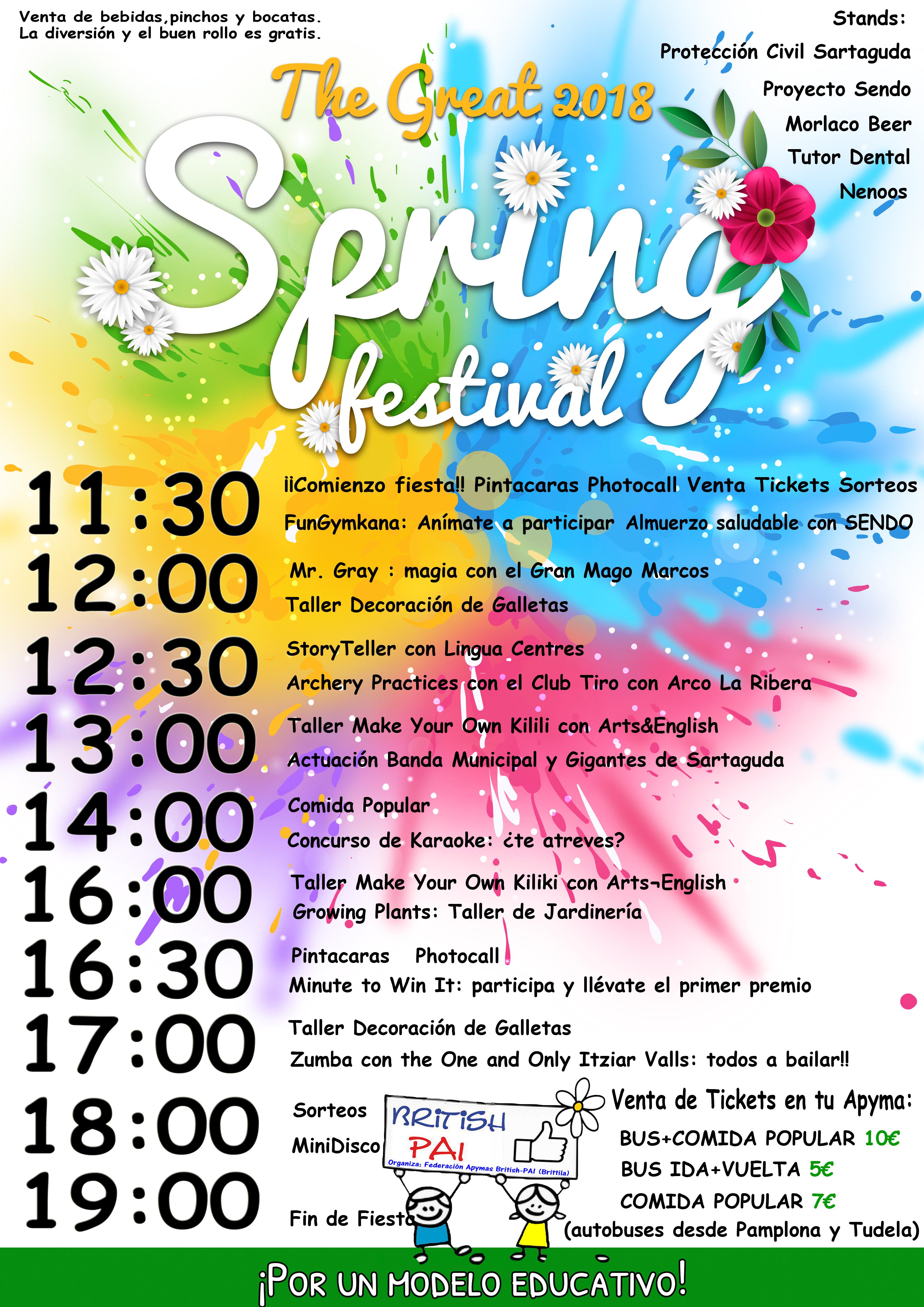 Programa The Great SPRING FESTIVAL 2018 en Sartaguda